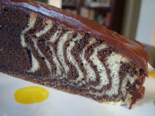 Zebra Cake with Ganache
