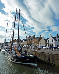 East Shore, Anstruther Harbour, East Neuk, Fife (SwaloPhoto) Tags: coast scotland reaper fife villages northsea anstruther firthofforth stcombs bythesea eastneuk anstrutherharbour scottishfisheriesmuseum coastallandscapes scottishvillages fr958 traditionalherringboat