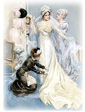 Victorian Wedding via Victoria Magazine