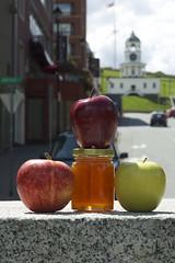 Rosh Hashanah in Halifax (mmerovitch) Tags: clock apple hill honey granite halifax rosh hashanah