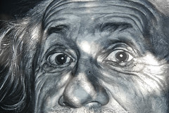 Albert Einstein painted portrait _DDC9387