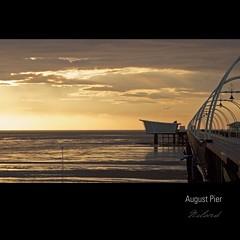 August Pier I (greysockbluesock) Tags: light sunset sea sky clouds golden pier track day view end southport merseyside gpc lolight redmatrix