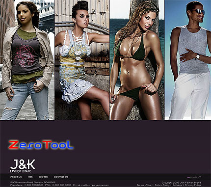 FlashMint 2615 rip Fashion brand ecommerce XML flash template