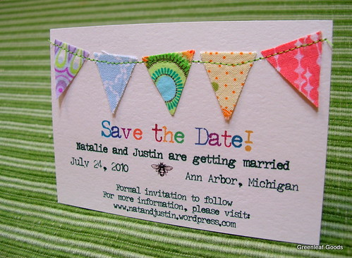 Self designed save-the-date