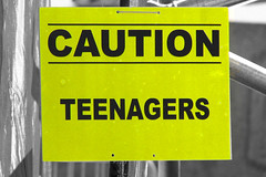 Caution: Teenagers