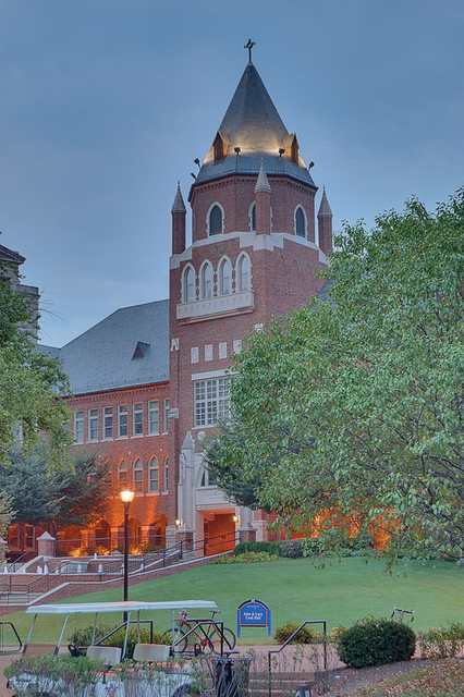 Saint Louis University, in Saint Louis, Missouri, USA - Cook Hall at dawn