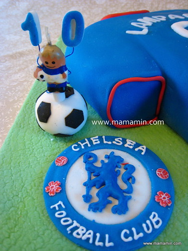 Football candle & Chelsea FC seal