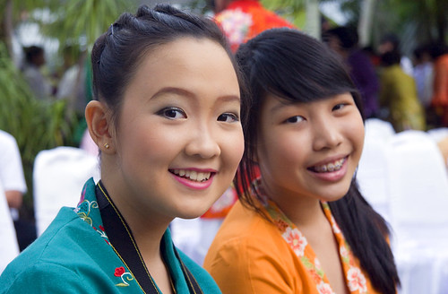 Young girls at Baba Wedding ceremony in Phuket