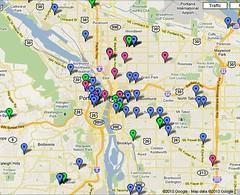 Crafty Portland Google Map