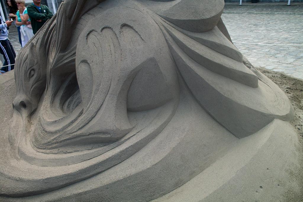The sixth Dublin Sand Sculpture Exhibition - Upper Courtyard Dublin Castle