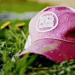 100% Pure Aussie (Alana Art) Tags: pink 6x6 hat yellow glitter square 50mm weeds bokeh sparkle 100 aussie f18 pure