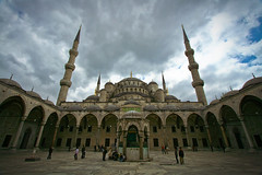 Sultan Ahmed mosque!! (Mansour Ali) Tags: architecture turkey day cloudy islam istanbul mosque sultan cami ahmed masjid   islamic sultanahmet  estambul