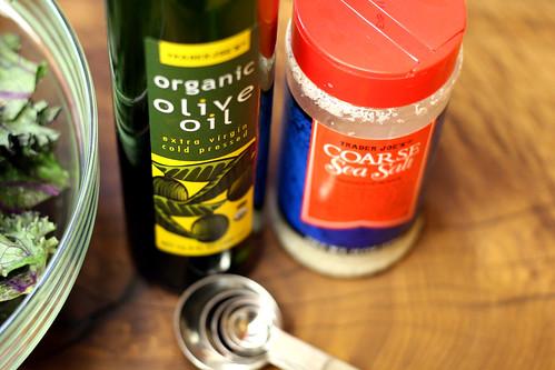 olive oil and sea salt