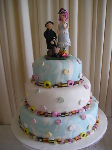 Love Heart Sweets Wedding Cake