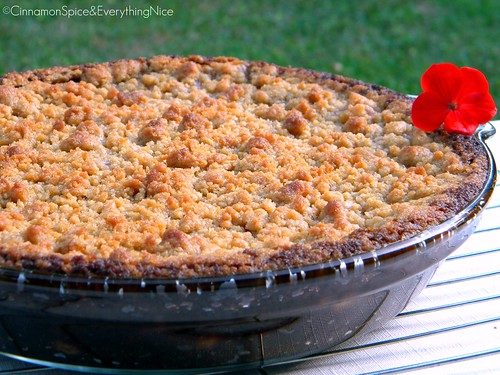 Ginger Peach Crisp with Gingersnap Pie
