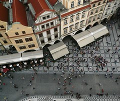 Old Town Square (maria kal) Tags: downtown prague praha roofs oldtownsquare astronomicalclock
