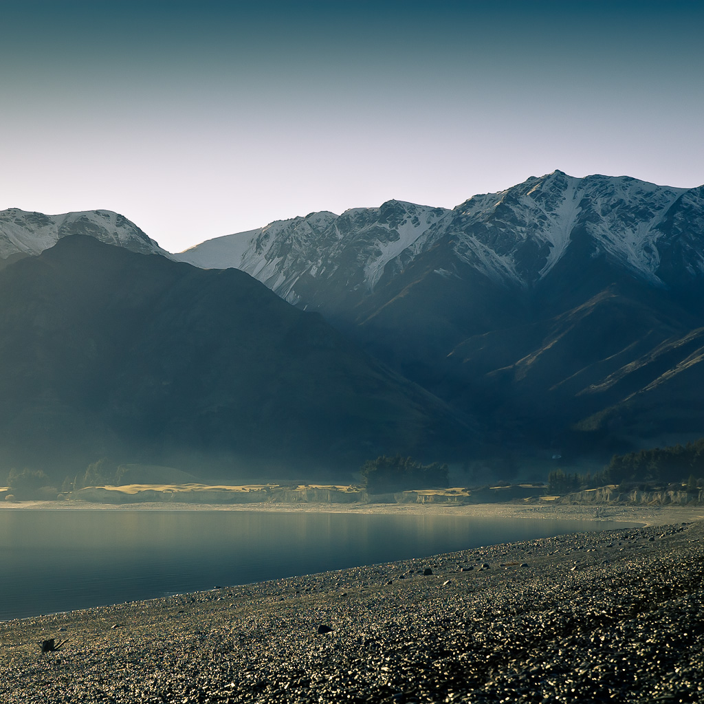 New Zealand Landscape Hawea Sunrise
