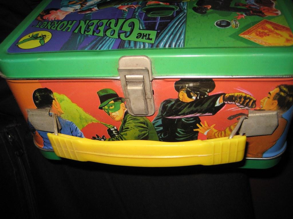 Green Hornet Metal Lunch Box 1856