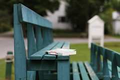 book (Jackie Rueda) Tags: book quebec bleachers tenniscourt georgeville easterntownships