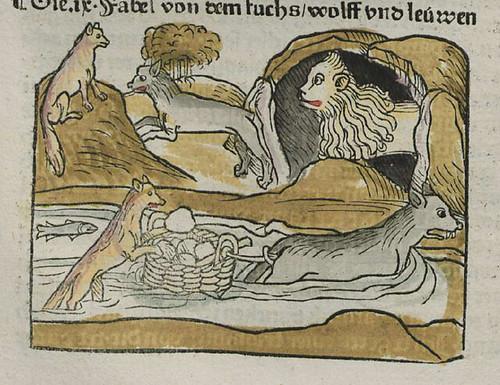 vulpes et lupus piscator et leo