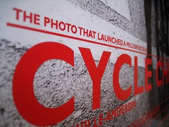 The Photo That Launched a Million Bicycles (Mikael Colville-Andersen) Tags: poster graphicdesign firstphoto casamia cyclechic velopassioncc