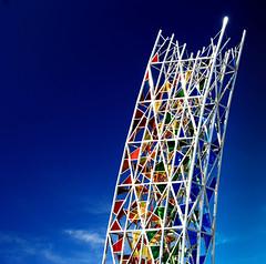 Prism (Arni J.M.) Tags: sculpture geotagged iceland islandia rainbow nikon nikkor geotag ísland islande islanda ruri keflavíkurflugvöllur therainbow geotags d80 nikond80 rúrí afsnikkor18135mm keflavíkinternationalairport 13556ged