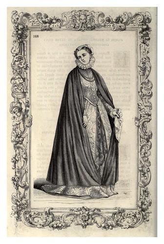 008-Vestimenta de matrona de Brescia y de Verona-Habiti antichi et moderni di tutto il mundo- Cesare Vecellio