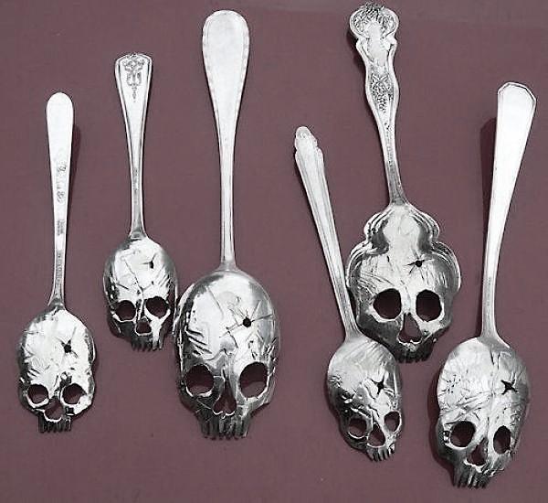 skull spoons by Pinky Diablo 1