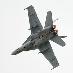 F-18C Hornet (HN-423) (J Saari) Tags: aviation military aeroplane airshow hornet airforce f18 afterburner a700 pirkkala eftp tias2010 hn423