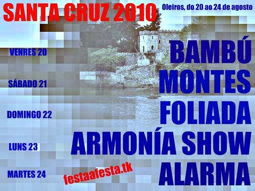 Oleiros - Santa Cruz 2010 - cartel elaboración propia