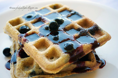 flaxseed blueberry Waffles
