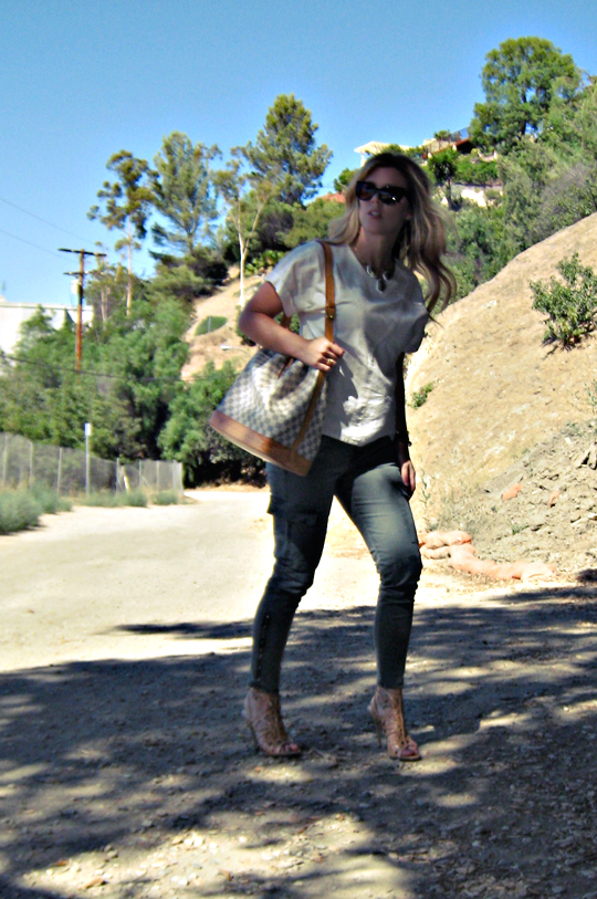 in the hills+j brand houlihans+louis vuitton azur bucket bag