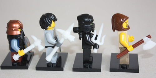 various custom minifig hand weapons