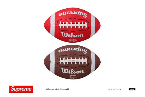Supreme / Wilson Mini Football