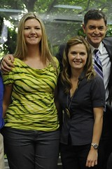 Me, Maggie Lawson and Tim Omundson