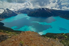 Shadows of Garibaldi (Grant Mattice Photography) Tags: blue summer mountains water clouds landscapes nikon shadows bc hiking britishcolumbia lakes scenic provincialpark garibaldilake panoramaridge august2008 grantmattice