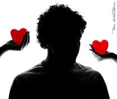 [ Day 134 \ 365 ] (Ruaa AlAbdulRahman) Tags: red white man black love me broken lady hands women mine hand heart you ladys them