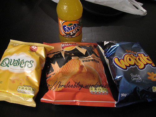 Fanta Zero and crisps