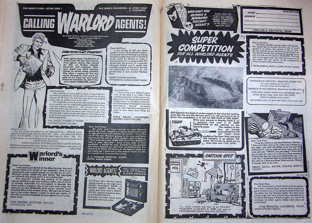 Warlord Comic: Secret Agent Information Pages - 7 of 8
