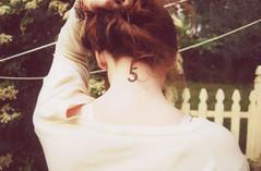 (katya mamadjanian) Tags: girl tattoo fence 5 maura yellowfilm400fuji400