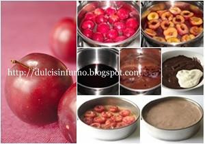 Torta Cioccolato, Vino e Prugne Senza Cottura