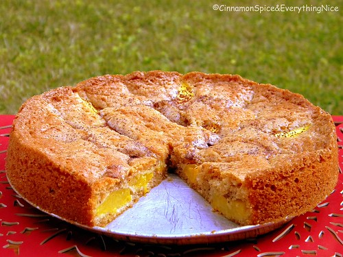 Lemon Ginger Peach Cake