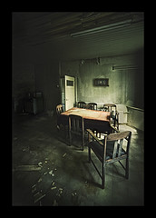 the farmhouse (biancavanderwerf) Tags: old abandoned kitchen dutch farmhouse table chairs decay room explore bianca frontpage nederlands urbex graphicmaster