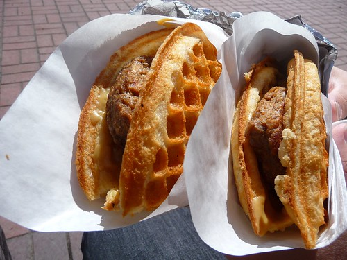 Vegan Sausage & Maple Waffles