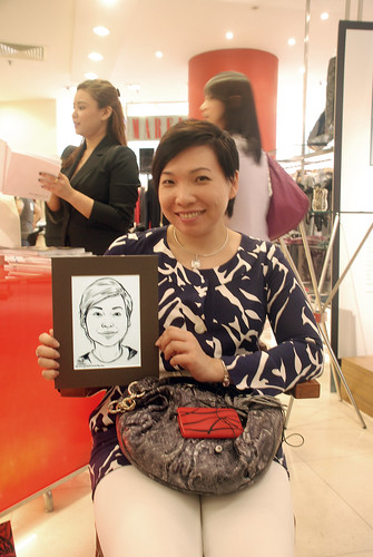 Portrait live sketching for Marella boutique - 10