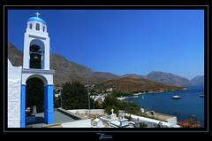 Kalymnos: Devine panorama view II (juvani photo | digital art) Tags: blue panorama white church lumix bay hellas kos panasonic greece griechenland kalymnos fz50 griekenland twitter dodekanesos dodekanissos  jsvn69 juvani  3659n2658e klimnos   juvaniphoto juvaniphotoontwitter wwwjuvaniphotonl 500pxcomjuvani
