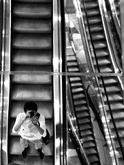 (Luqman Marzuki) Tags: selfportrait escalator mantosz canons90