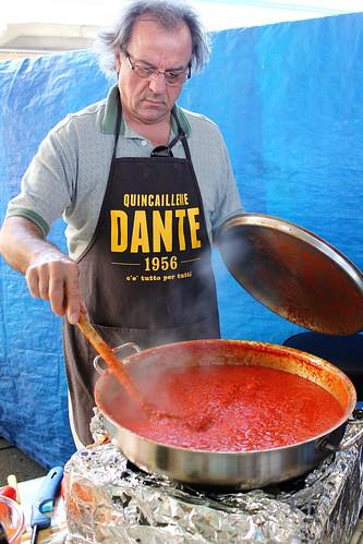 making a tomato basil sauce