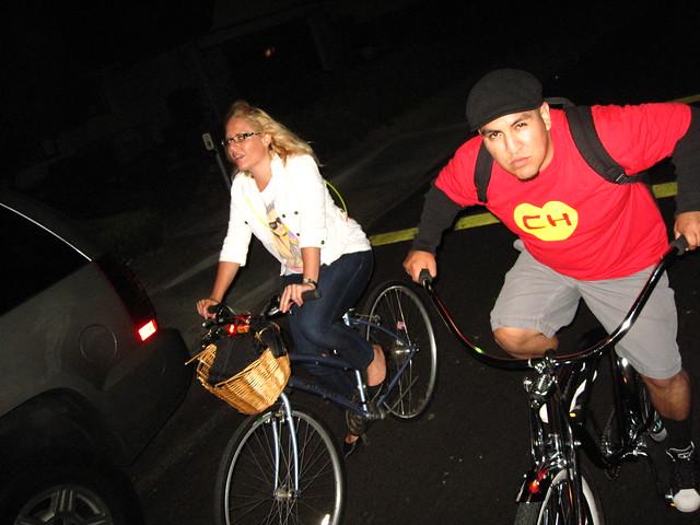 Chespirito rides a bike