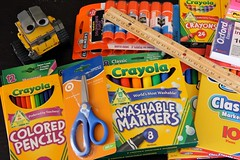 Back to School (twmjedi) Tags: canon toy rebel postit disney scissors pixar 365 crayons coloredpencils ruler markers efs crayola 1755 walle 1755mm elmersglue project365 efs1755 canonefs1755mmf28isusm canonefs1755mmf28 t2i 365toyproject walle365